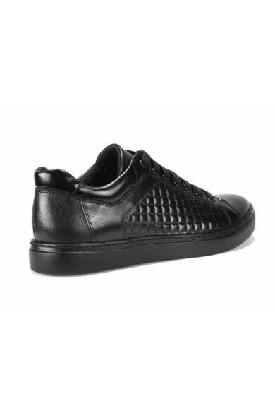 DOMENO valódi bőr sneakers, fekete, DOM1003