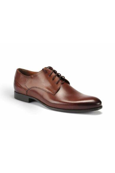 DOMENO valódi bőr alkalmi férfi cipő, barna, DOM101