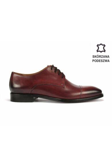 DOMENO valódi bőr alkalmi férfi cipő, bordó, DOM102
