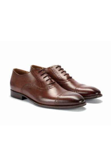 DOMENO valódi bőr alkalmi férfi cipő, barna, DOM1020