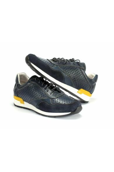DOMENO valódi bőr sneakers, kék, DOM1023