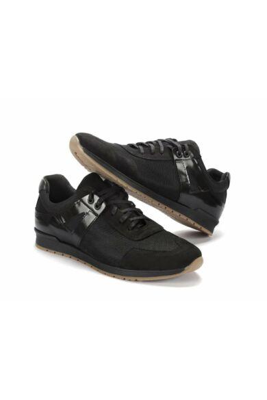 DOMENO sneakers távtartó szövetből, fekete, DOM1027