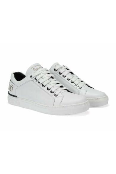DOMENO valódi bőr sneakers, fehér, DOM1029