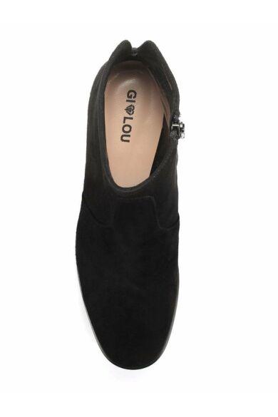 GILOU hasított bőr bakancs, fekete, DOM1031