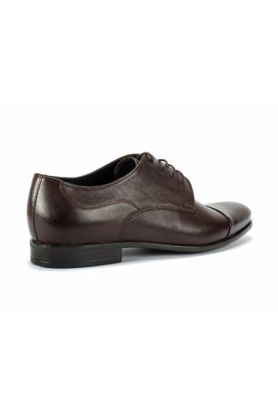 DOMENO valódi bőr alkalmi férfi cipő, barna, DOM1037