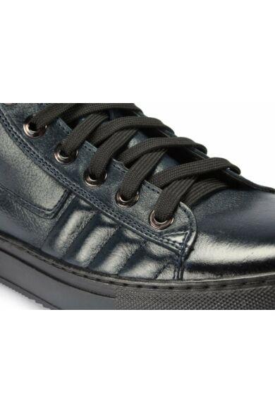 DOMENO valódi bőr sneakers, kék, DOM1039