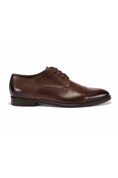 DOMENO valódi bőr alkalmi férfi cipő, barna, DOM104