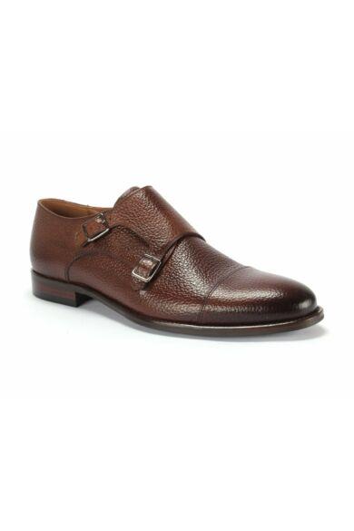 DOMENO valódi bőr alkalmi férfi cipő, barna, DOM1042