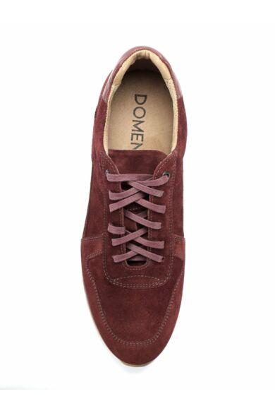 DOMENO velúr sneakers, bordó, DOM1047