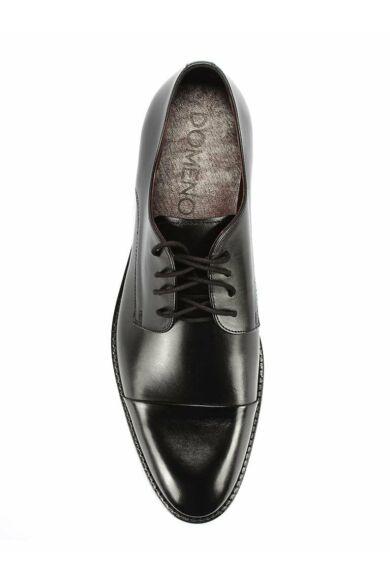 DOMENO valódi bőr alkalmi férfi cipő, fekete, DOM105