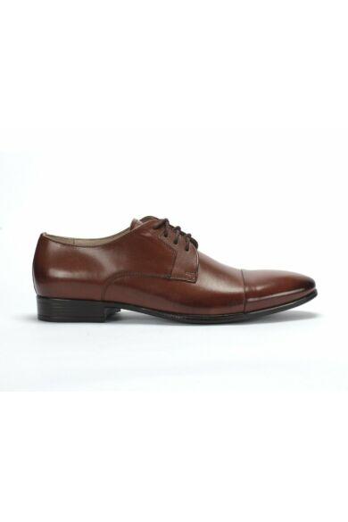 DOMENO valódi bőr alkalmi férfi cipő, barna, DOM1056