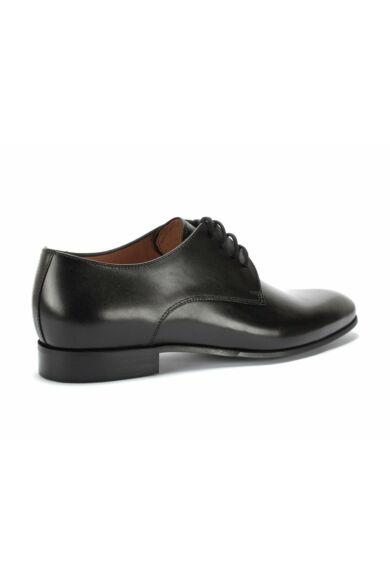 DOMENO valódi bőr alkalmi férfi cipő, fekete, DOM1065