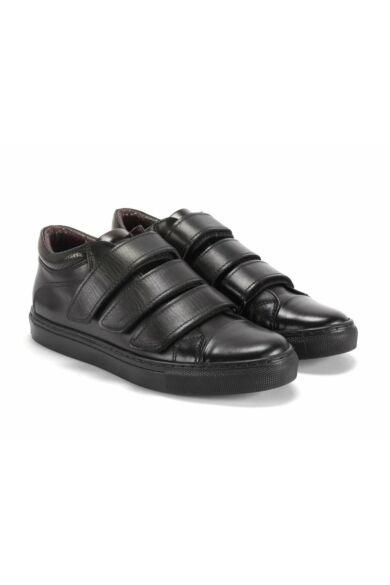 DOMENO valódi bőr sneakers, fekete, DOM1072