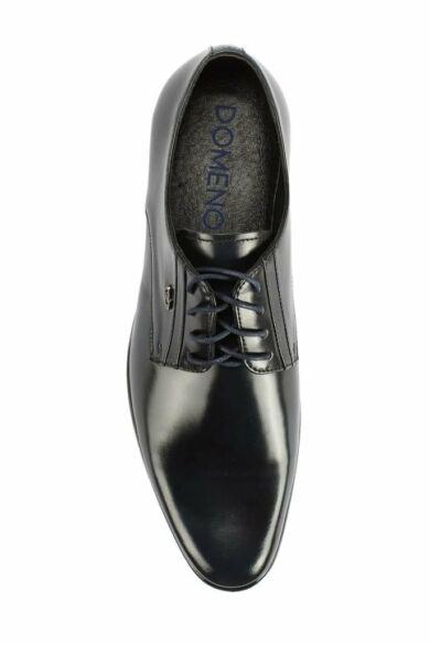 DOMENO valódi bőr alkalmi férfi cipő, kék, DOM108
