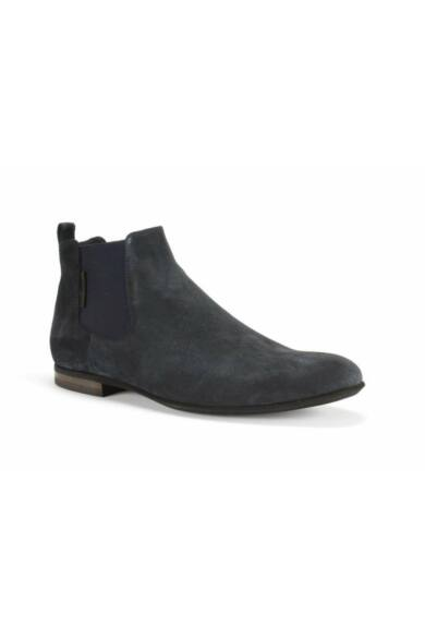 DOMENO velúr elegáns magas szárú férfi cipő, kék, DOM111