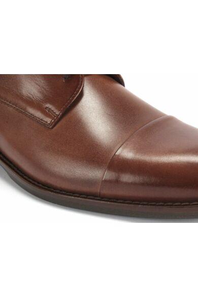 DOMENO valódi bőr alkalmi férfi cipő, barna, DOM1112