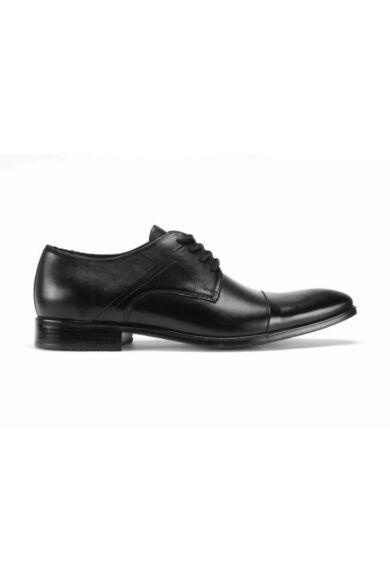DOMENO valódi bőr alkalmi férfi cipő, fekete, DOM116