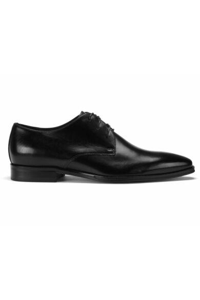 DOMENO valódi bőr alkalmi férfi cipő, fekete, DOM1167