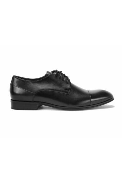DOMENO valódi bőr alkalmi férfi cipő, fekete, DOM1168
