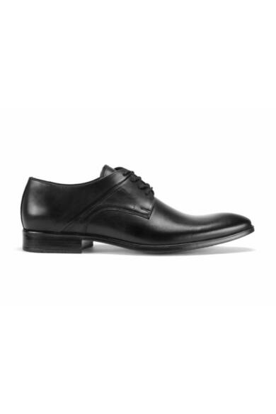 DOMENO valódi bőr alkalmi férfi cipő, fekete, DOM118