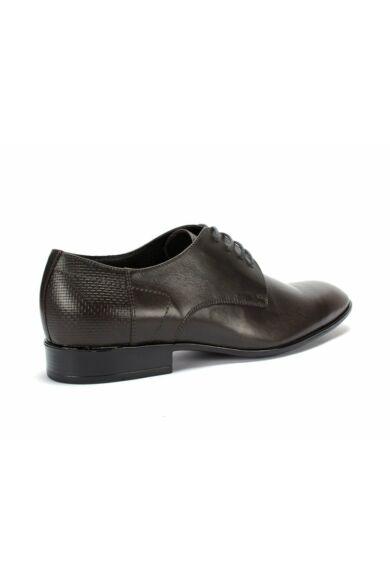 DOMENO valódi bőr alkalmi férfi cipő, szürke, DOM1192