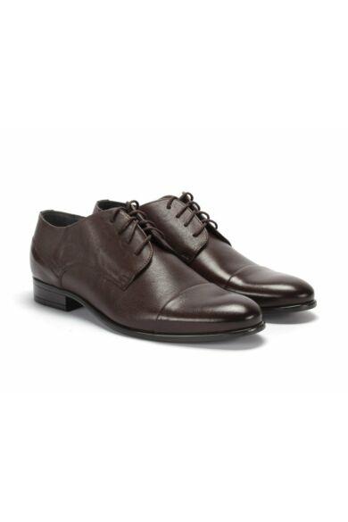 DOMENO valódi bőr alkalmi férfi cipő, barna, DOM1193