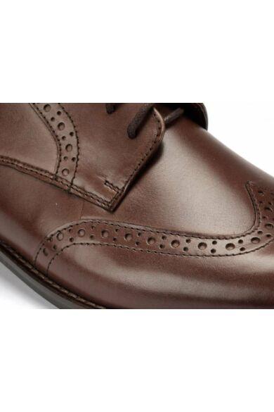 DOMENO valódi bőr alkalmi férfi cipő, barna, DOM12