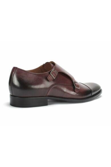 DOMENO valódi bőr alkalmi férfi cipő, bordó, DOM1216