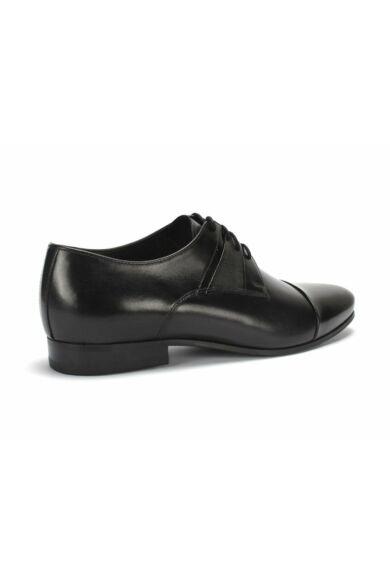 DOMENO valódi bőr alkalmi férfi cipő, fekete, DOM1242