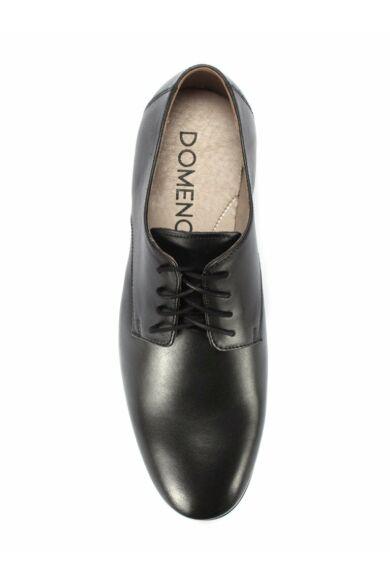 DOMENO lakozott bőr elegáns férfi félcipő, fekete, DOM1290