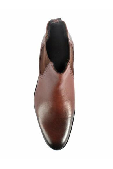 DOMENO valódi bőr elegáns magas szárú férfi cipő, barna, DOM1292