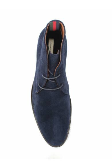 Ambitious hasított bőr elegáns magas szárú férfi cipő, kék, DOM1370