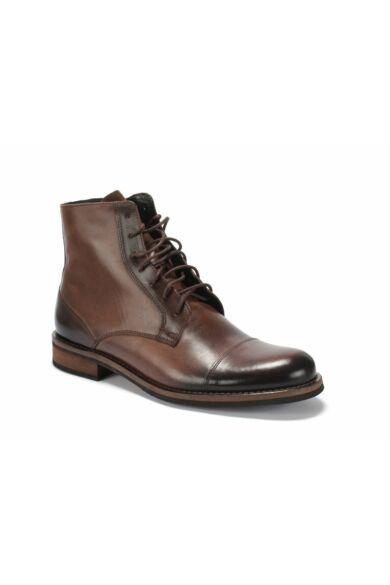 DOMENO valódi bőr elegáns magas szárú férfi cipő, barna, DOM1378