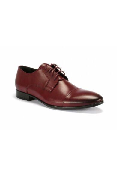 DOMENO valódi bőr alkalmi férfi cipő, bordó, DOM139