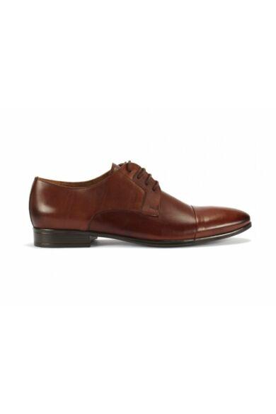 DOMENO valódi bőr alkalmi férfi cipő, barna, DOM140