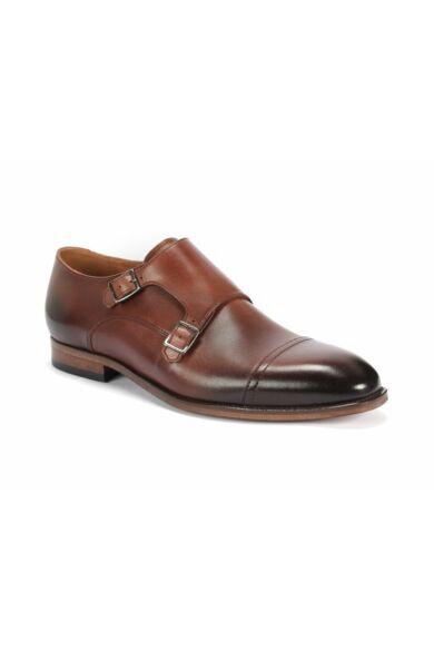 DOMENO valódi bőr alkalmi férfi cipő, barna, DOM1412