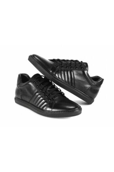 DOMENO valódi bőr sneakers, fekete, DOM143