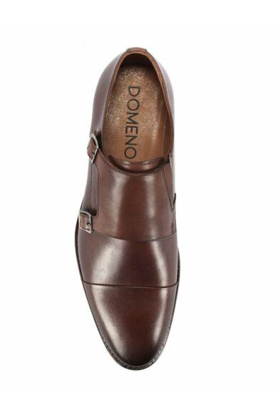 DOMENO valódi bőr alkalmi férfi cipő, barna, DOM1434