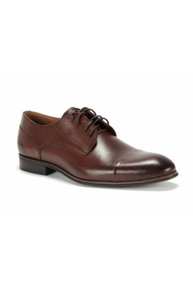 DOMENO valódi bőr alkalmi férfi cipő, barna, DOM1438