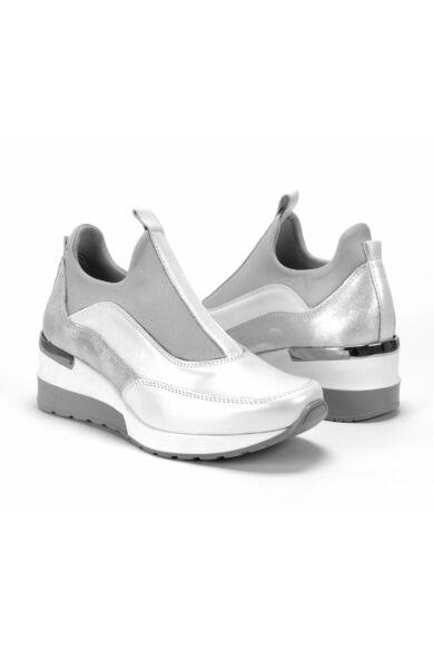 DOMENO valódi bőr sneakers, fehér, DOM1449