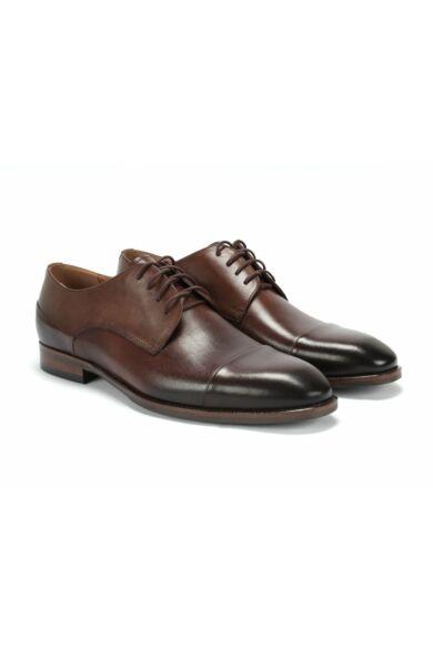 DOMENO valódi bőr alkalmi férfi cipő, barna, DOM1462