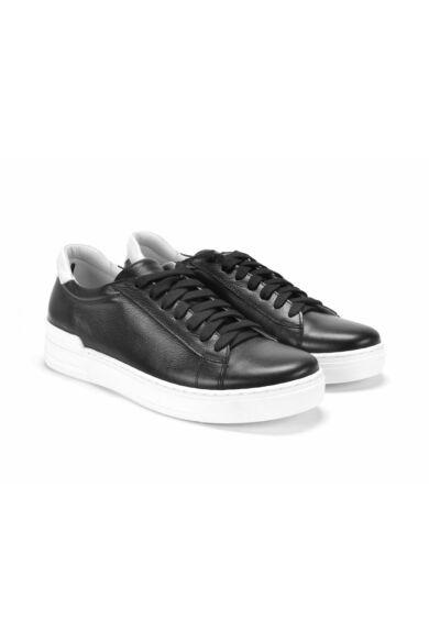 DOMENO valódi bőr sneakers, fekete, DOM1464