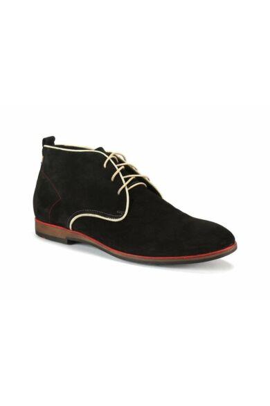DOMENO velúr elegáns magas szárú férfi cipő, fekete, DOM147
