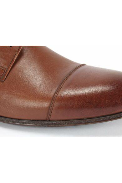 DOMENO valódi bőr elegáns férfi félcipő, barna, DOM1480