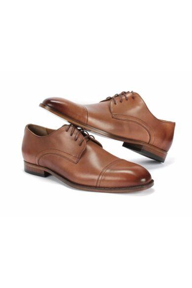 DOMENO valódi bőr alkalmi férfi cipő, barna, DOM1498