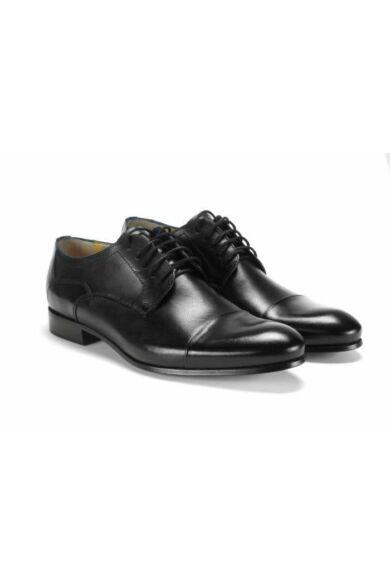 DOMENO valódi bőr alkalmi férfi cipő, fekete, DOM150
