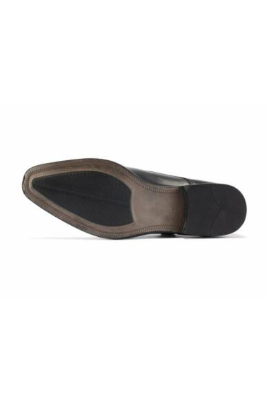 Valódi bőr alkalmi férfi cipő, fekete, DOM221
