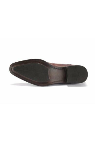 Valódi bőr alkalmi férfi cipő, barna, DOM226