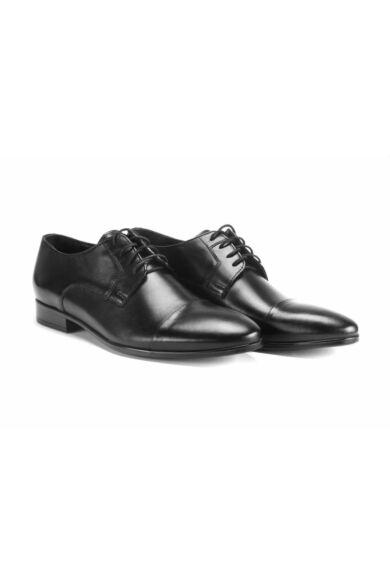 DOMENO valódi bőr alkalmi férfi cipő, fekete, DOM233