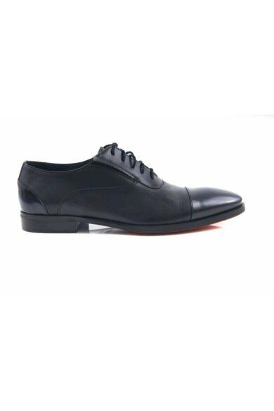 DOMENO valódi bőr alkalmi férfi cipő, fekete, DOM290
